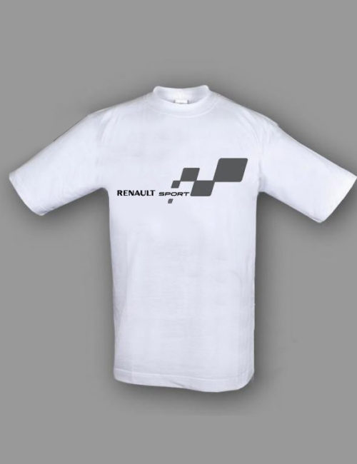 renault sport t shirt hvid nicefit. Black Bedroom Furniture Sets. Home Design Ideas